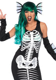Leg Avenue Female 3PC.Skeleton Siren Costume 86690