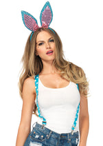 Leg Avenue Female 3PC.Sparkle Bunny Kit 2149