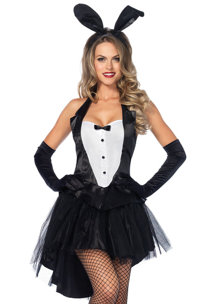 Leg Avenue Female 3PC.Tux & Tails Bunny Costume 83951
