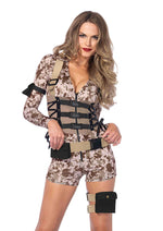 Leg Avenue Female 4PC.Battlefield Babe Costume 85542