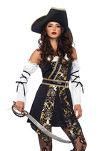 Leg Avenue Female 4PC.Black Sea Buccaneer Costume 85563