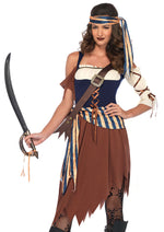 Leg Avenue Female 4PC.Caribbean Castaway Costume 85621