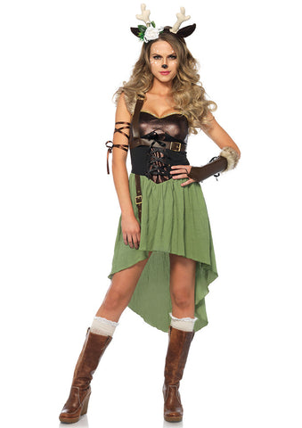 Leg Avenue Female 4PC.Dark Forest Fawn Costume 85590