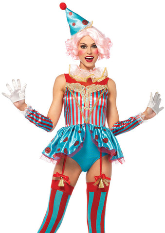 Leg Avenue Female 4PC.Delightful Circus Clown Costume 85620