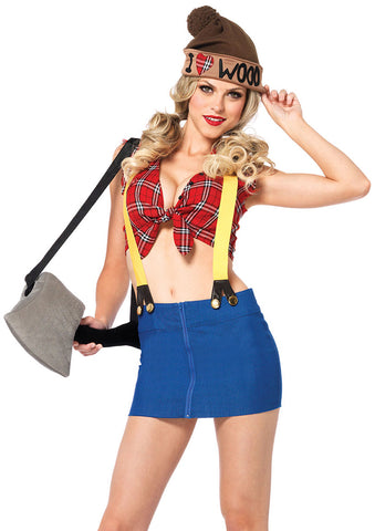Leg Avenue Female 4PC.Lumber Jackie Costume 85250