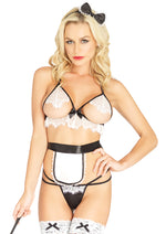 Leg Avenue Female 4PC.Maid Costume 87055