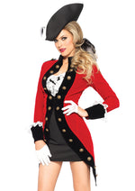 Leg Avenue Female 4PC.Rebel Red Coat Costume 85386