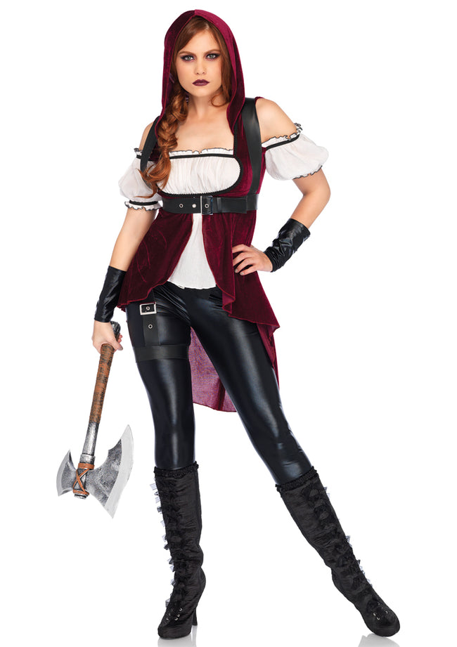 Leg Avenue Female 4PC.Rebel Red Huntress Costume 86672