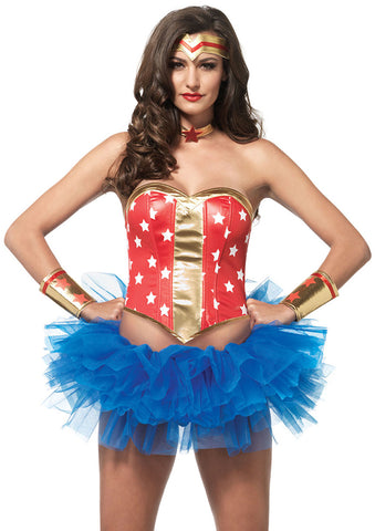 Leg Avenue Female 4PC.Super Star Hero Kit A2759
