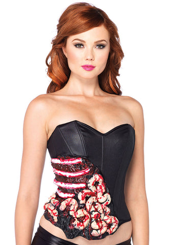 Leg Avenue Female Blood And Guts Corset With Support Boning 2609