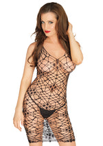 Leg Avenue Female Bordeaux Net Bodycon Dress 81541