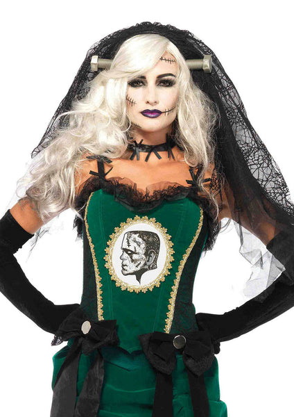 Leg Avenue Female Bride Of Frankenstein Lace Veil A2754