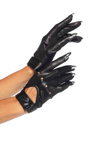 Leg Avenue Female Claw Motorcycle Gloves With Keyhole Velcro Strap 2663