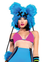 Leg Avenue Female Dead Mouse Furry Hood With Pom Pom Ties. A2015