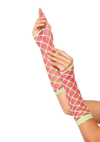 Leg Avenue Female Duel Net Neon Arm Warmer 2716