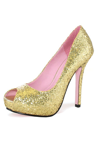 Leg Avenue Female Ella 5 In Open Toe Glitter Pump W/1 In Covered Platform 5011