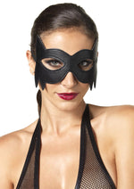 Leg Avenue Female Faux Leather Fantasy Cat Eye Mask KI2001