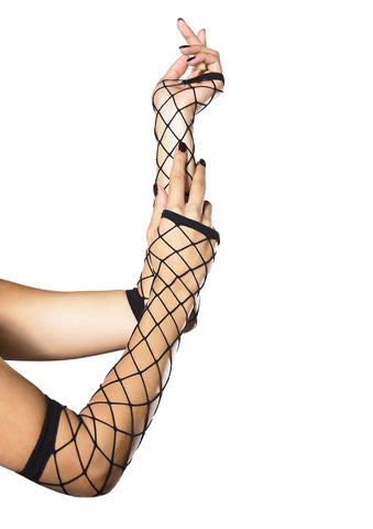 Leg Avenue Female Fingerless Industrial Net Gloves 2105