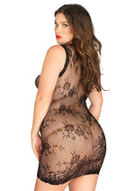 Leg Avenue Female Floral Lace Mini Dress With Scalloped Edge 87043Q