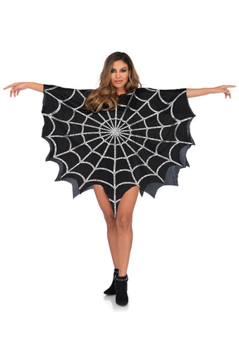 Leg Avenue Female Glitter Web Poncho 3762