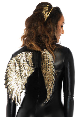 Leg Avenue Female Gold Sequin Wings A2792