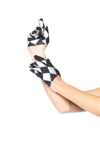 Leg Avenue Female Harlequin Mini Cropped Gloves 3740