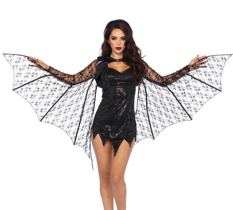 Leg Avenue Female Lace Extendable Bat Wing Shrug A2772