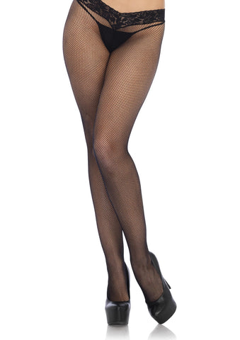 Leg Avenue Female Low Rise Lace Top Micro Net Tights 9766
