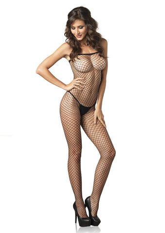 Leg Avenue Female Lycra Industrial Fishnet Bodystocking 8375