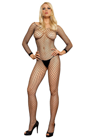 Leg Avenue Female Lycra Industrial Long Sleeves Bodystockin 8380