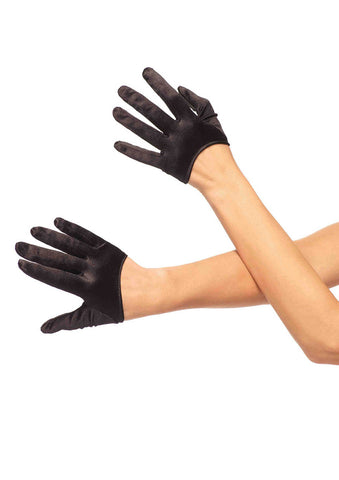 Leg Avenue Female Mini Cropped Satin Gloves 2137