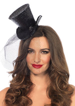Leg Avenue Female Mini Top Hat With Veil 2063