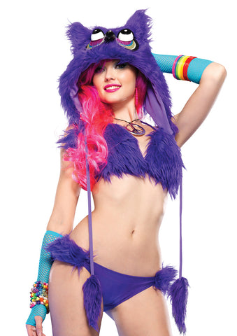 Leg Avenue Female Night Owl Furry Hood A2682