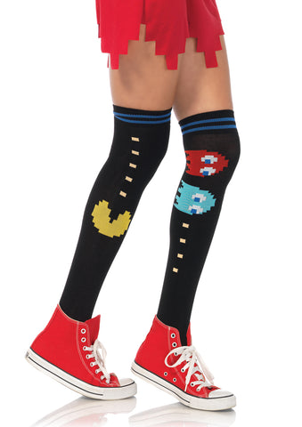 Leg Avenue Female Pac Man And Ghost Over The Knee Socks PM6924