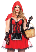 Leg Avenue Female Plus Size 2PC.Curvy Red Riding Hood Costume 85485X