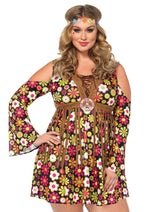 Leg Avenue Female Plus Size 2PC.Starflower Hippie Costume 85610X