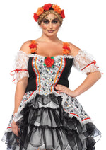 Leg Avenue Female Plus Size 2PC.Sugar Skull Senorita Costume 85557X