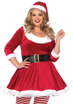 Leg Avenue Female Plus Size 3PC.Santa Sweetie Costume 86615X