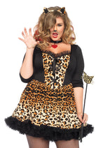 Leg Avenue Female Plus Size 4PC.Wildcat Dress Costume 85504X