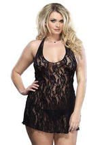 Leg Avenue Female Plus Size Halter Rose Lace Dress 8718Q