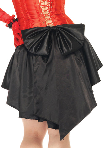 Leg Avenue Female Satin Burlesque Skirt With Train And Oversized Back Bow 86545Q