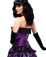 Leg Avenue Female Satin Underwire Cupless Corset W/Side Zipper 86512