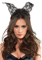 Leg Avenue Female Scalloped Lace Bunny Ears A2742
