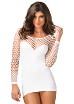 Leg Avenue Female Seamless Mini Dress With Diamond Net Bodice And Sleeves 86585