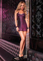 Leg Avenue Female Shimmer Foil Halter Dress With Faux Rhinestone Accent 28085