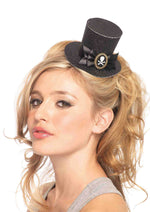 Leg Avenue Female Skull Cameo Glitter Clip-On Petite Top Hat A1068