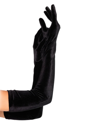 Leg Avenue Female Velvet Opera Length Gloves 2052