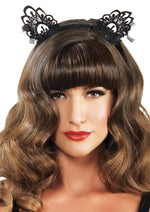Leg Avenue Female Venice Lace Cat Ears With Organza Bows A2743