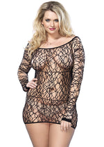 Leg Avenue Female Web Net Long Sleeved Mini Dress 86570Q