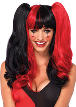 Leg Avenue Harlequin Wig With Clip-On Pony Tails And Adjustable Strap A2711